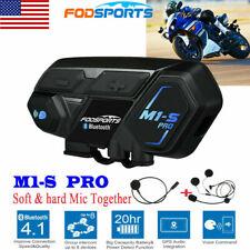 M1-S PRO 2000M 8Way Motorcycle Intercom Bluetooth Headset Helmet System 8 Rider