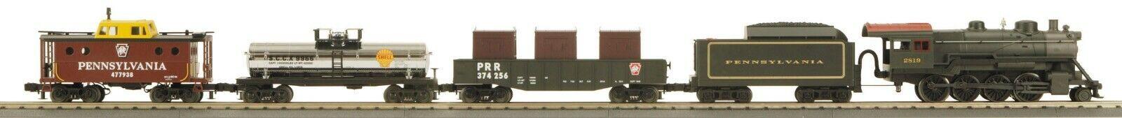 MTH 30-4136-1 Pennsylvania 2-8-0, Góndola, Tanque Coche, furgón de cola no pista, transf.