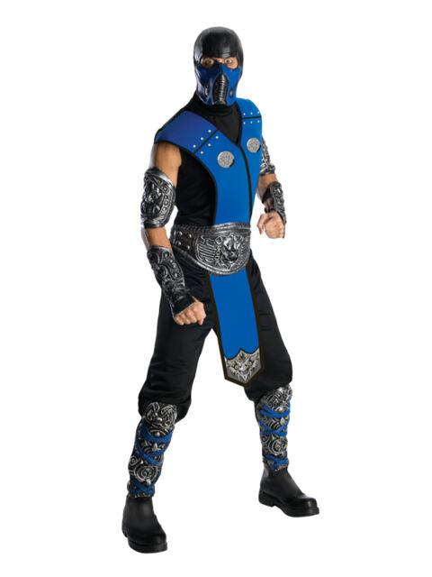 Adult STD Licensed Mortal Kombat Sub Zero New Fancy Dress Costume Mens Gents