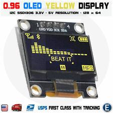 "2 pack 0.96/"" I2C OLED Display Module 128x64 OLED Display for Arduino Module os12"