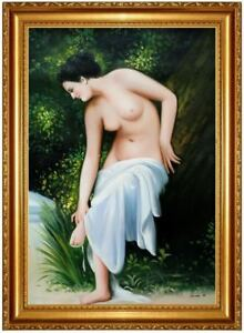 ÖLBILD Frauenakt, erotische Frau, Nude Erotik Nackt Ölgemälde HANDGEMALT 60x90cm