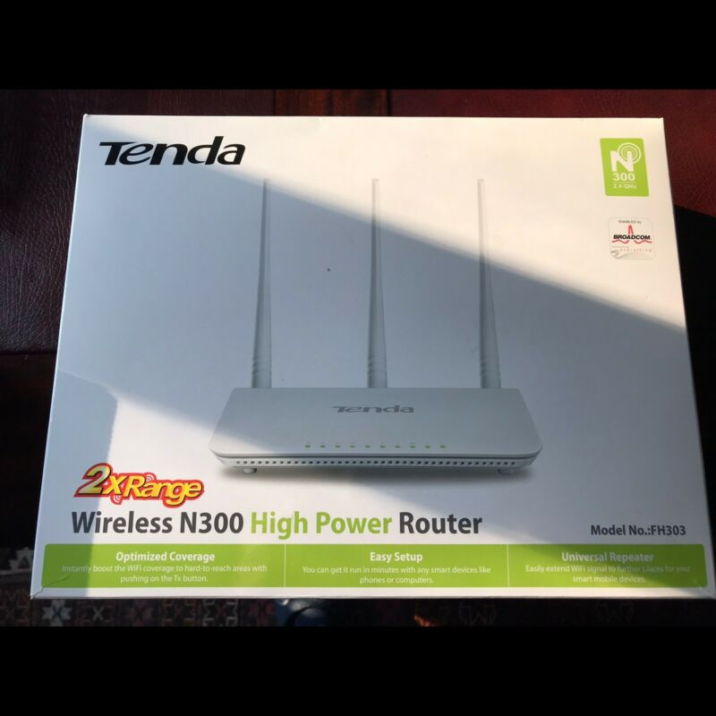 Tenda FH303 300Mbps 3‑Antennas High Power Wireless‑N Amplified Router
