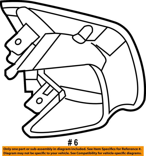 Mercury Ford Oem 10 11 Milan Steering Wheel Side Cover 9e5z3d758ba