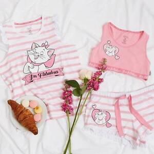fbdf4e7eee Ladies DISNEY THE ARISTOCATS MARIE Pyjamas Vest Crop Top ...