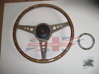 14 Wood Steering Wheel & Adaptor For Mgb 1970-1976 Moto-lita Moto Lita