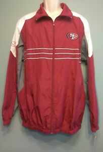 sports shoes 43e55 4202d Details about NFL Sports Illustrated Size Large San Francisco 49ers  Windbreaker Zip Up Jacket