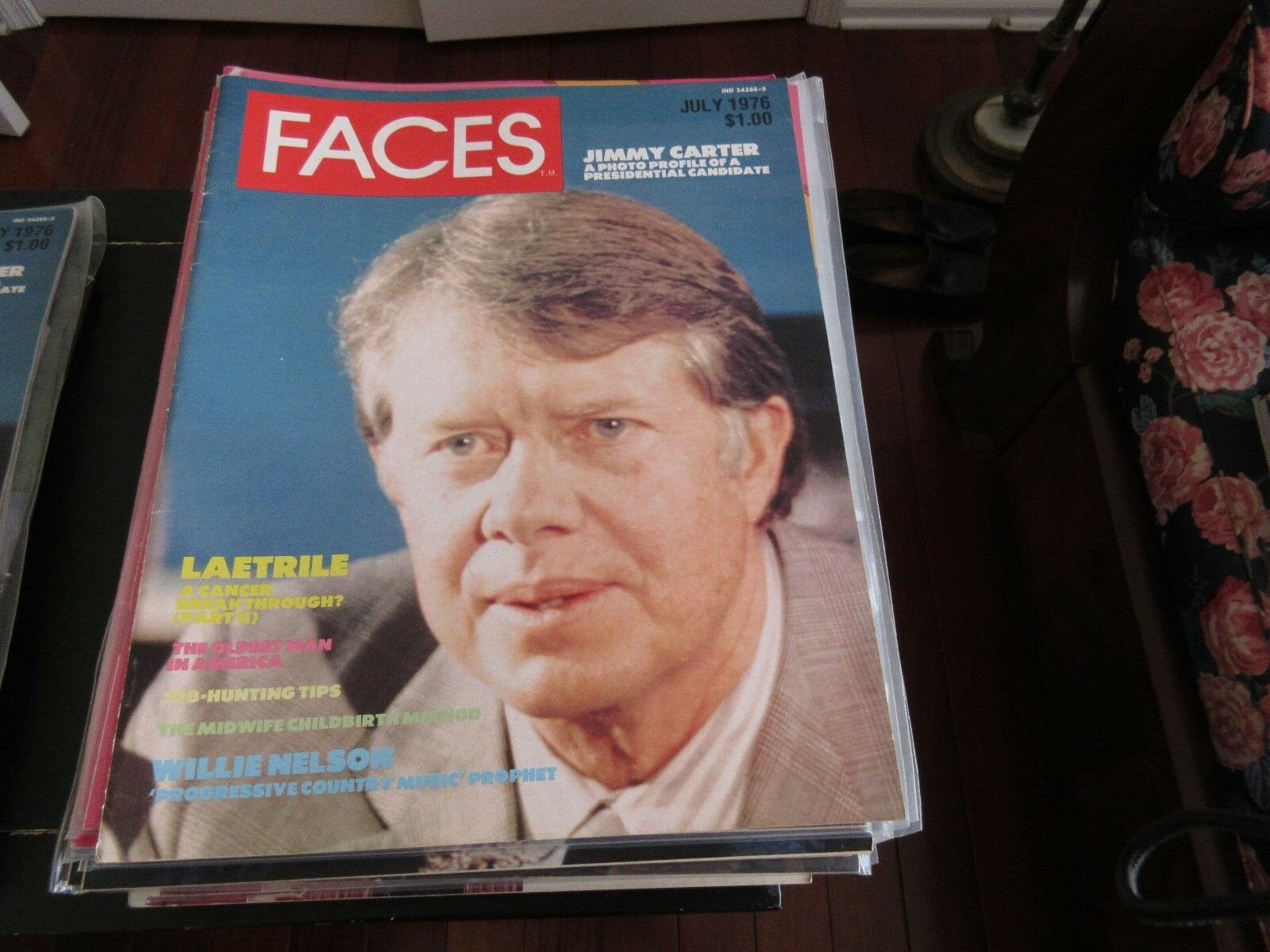 Jimmy Carter , Faces Magazine , July ,1976 , Willie Nel