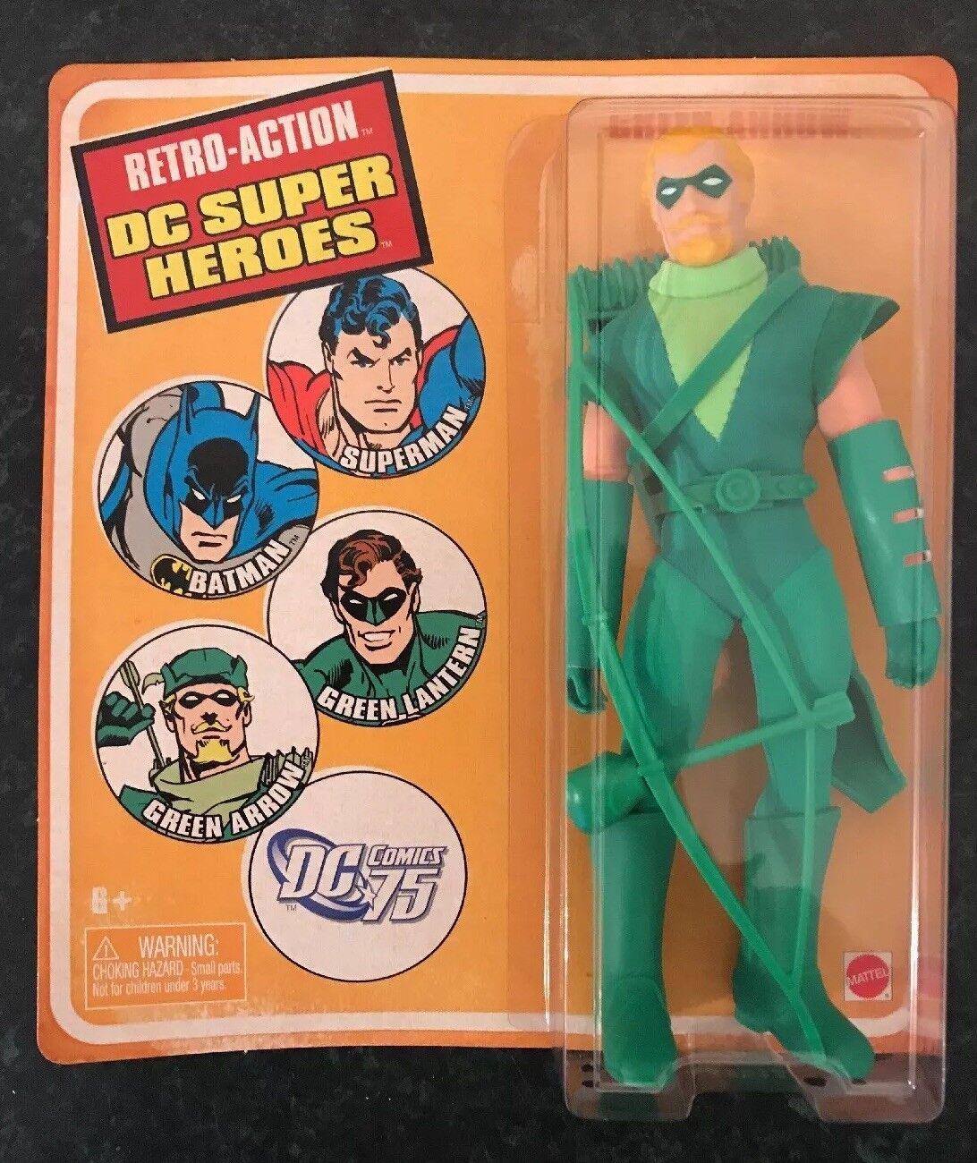 RARE DC SUPERHEROES Universe GREEN ARROW Retro MATTEL 7    Action Figure SEALED d9d7df
