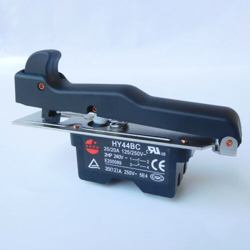 KEDU HY44BC 125//250V 25//20A 2HP Lock On Off Pushbutton Switch for Angle Grinder