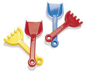 DANTOY-ROBUST-SHOVEL-amp-RAKE-24cm-RED-BLUE-YELLOW-play-kids-sandpit-toys