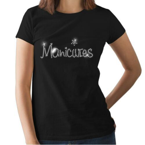 NAIL Accessories ANY SIZE MANICURES Crystal Design Fitted Ladies T Shirt
