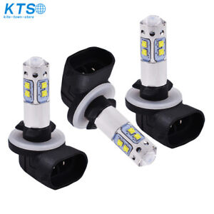 3 Pack 8000K LED HEADLIGHTS BULB FOR POLARIS SORTSMAN 500 800 ICE BLUE