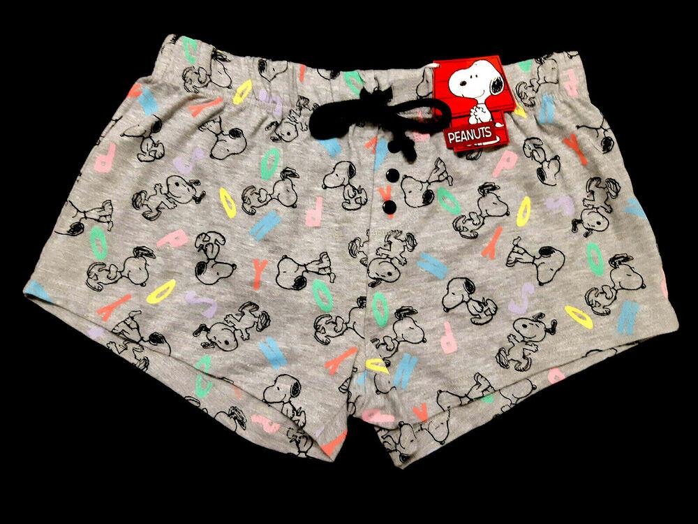 Snoopy Official Peanuts Gris Femmes Salon Pyjama Short Pyjama Bnwt Primark