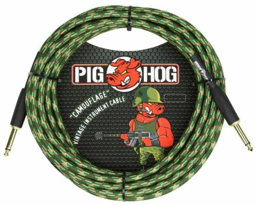 "Pig Hog /""Camouflage/"" Instrument Cable 20ft"