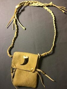 Image Is Loading Native American Medicine Bag Fake Wolf Claw Cherokee