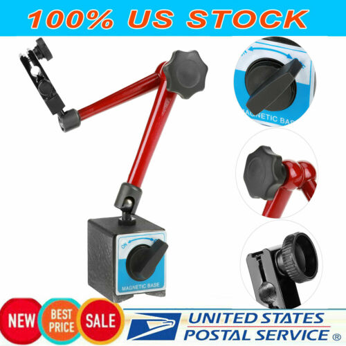 Universal Adjustable Magnetic Base Holder Stand Tool For Dial Test Indicator USA