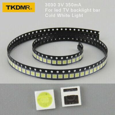 100Pcs 3030 SMD lamp beads 350mA 3V Special for LED TV Backlight Strip