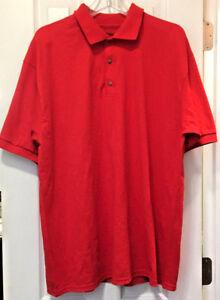 Gildan-Men-039-s-Dry-Blend-50-50-Jersey-Knit-Polo-Shirt-Red-XL