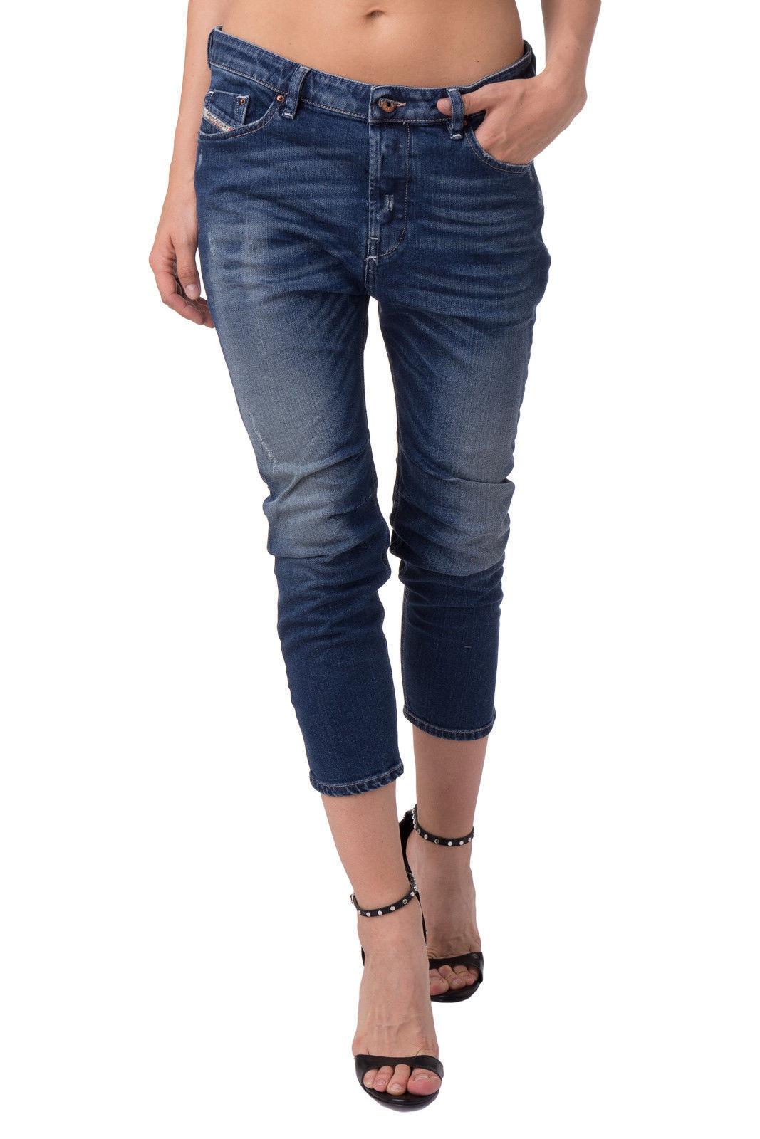 395 Authentic DIESEL Women's Distressed Faded Relaxed Boyfriend Eazee-R Jeans