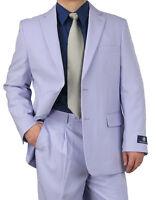 Promotion Sharp 2pcs Mens 2b. Dress Suit Lavender 50r-62l Tb03 $220