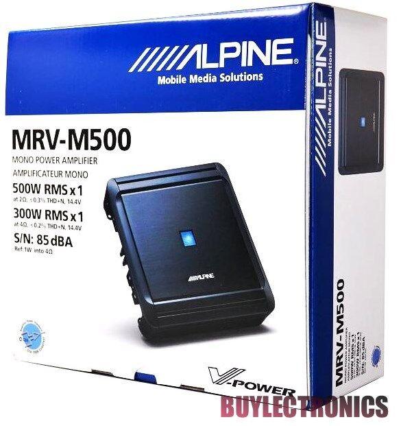 Alpine MRV-M500 Mono Car Audio Amplifier/1-Channel Car Amp VPower Series Class D