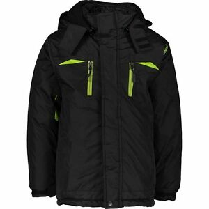 REEBOK-Boys-2-Piece-Softshell-Jacket-Black-with-Green-Detailing-5-6-Years