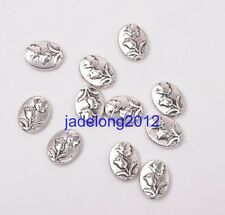 15pcs Tibetan Silver Bead Flower Spacer Beads 11x9mm C3067
