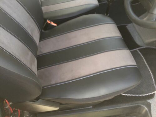 SUEDE TAILORED SEAT COVERS . VAUXHALL VIVARO  2013  2+1 ECO LEATHER