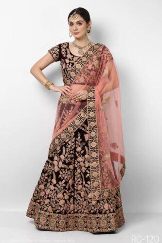 a Indian Desginer lavoro Fancy con Bollywood ricamo Lehenga Choli Y6BrHO6q