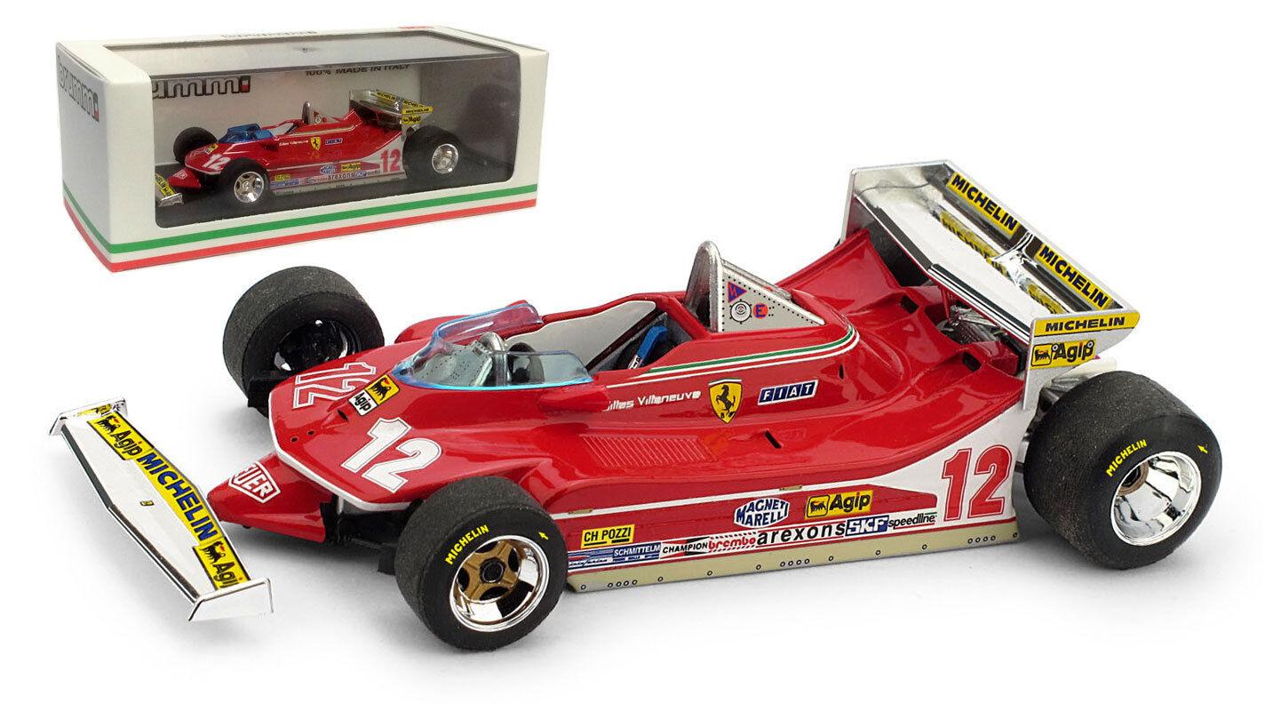 BRUMM FERRARI 312 t4   12 GP DE MONACO 1979-Gilles Villeneuve, échelle 1 43,
