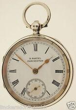 ENGLISCHE TASCHENUHR VON 1853 - H. SAMUEL MANCHESTER - 925er SILBER