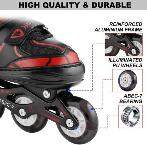 Roller Blades Adult or Kid Breathable Outdoor Sport Details about  /Adjustable Inline Skates