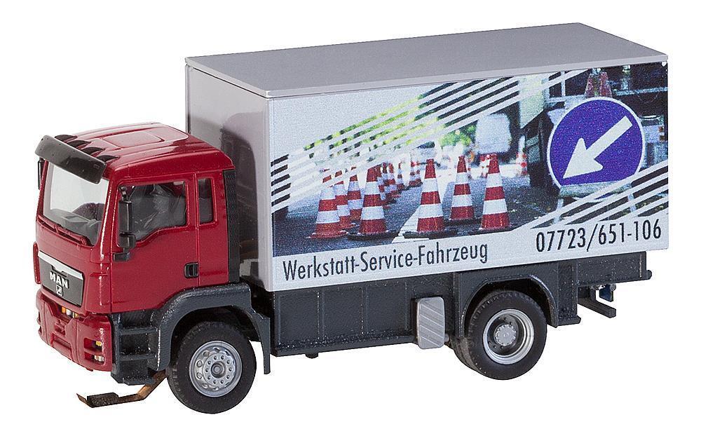 Faller ho 161554 auto system mann tgs werkstattservicewagen   neu in ovp