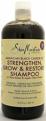 SHEA MOISTURE JAMAICAN BLACK CASTOR OIL SHAMPOO APPLE CIDER VINEGAR 16.3 FL. OZ.