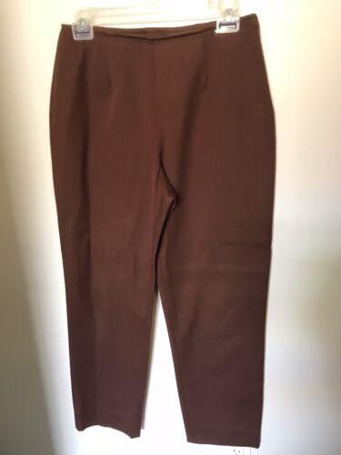 St John Sport Brown Side Zip Pants - Size 4
