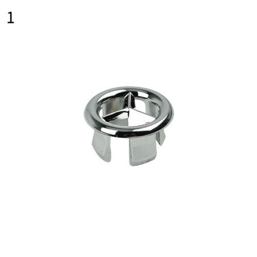 Kitchen Bathroom Basin Sink Overflow Ring Wash Basin Insert Hole Cover Cap New