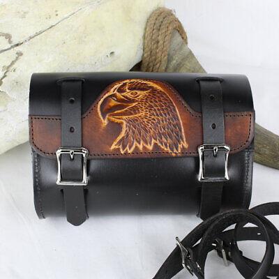 Biker Motorrad Echt Leder Eagle Toolbag Lenkerrolle Werzeugtasche Werkzeugrolle