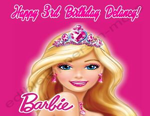 barbie personalized edible print premium cake topper frosting sheets