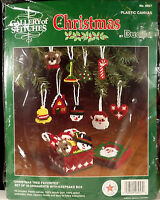 Bucilla Christmas Tree Favorites 18 Ornaments Kit Plastic Canvas Santa Heart