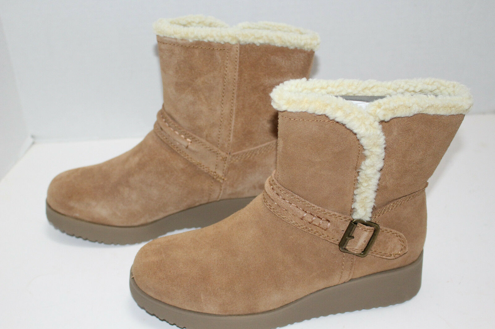 NEW Womens Sonoma Genuine Suede Upper Lined Boot Size 9 color Chestnut