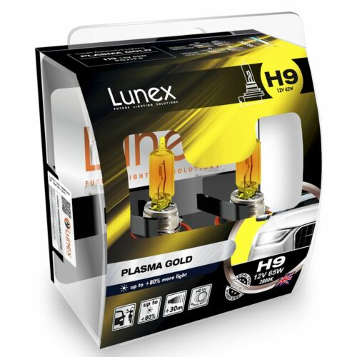 Lunex H9 Plasma Gold 12v Replacement Upgrade Car BULB Twin