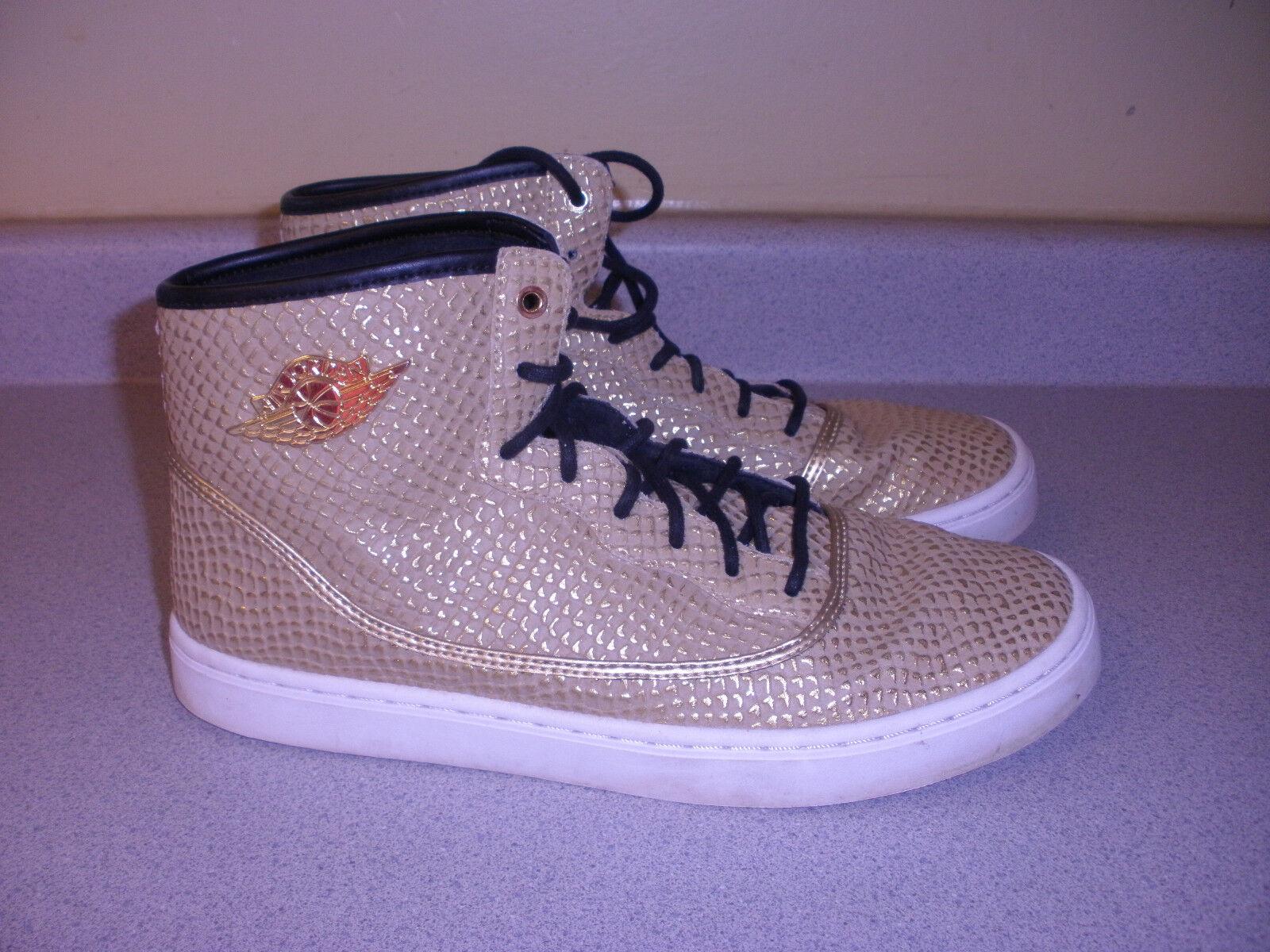 Women's NIKE Jasmine GG Metallic gold Court shoes Size 9