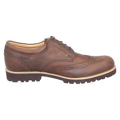Hombre Cuero Marrón Zapato Oxford Formal Elegante De Cordones Trabajo Oficina