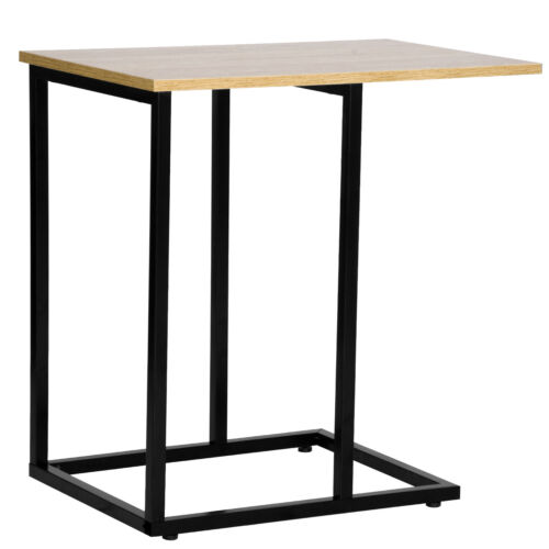 Table d/'appoint coffeetisch Ordinateur Portable Table Betttisch bois acier organiser tsb66hei