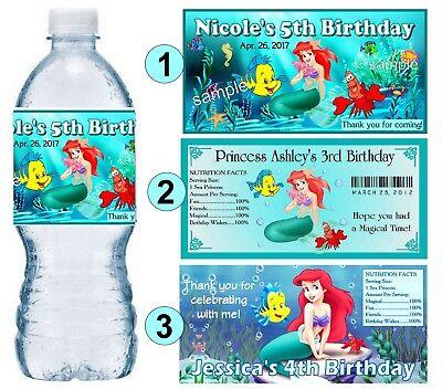 The Little Mermaid Ariel Personalised Kids Drinks Sports Children/'s Water Bottle