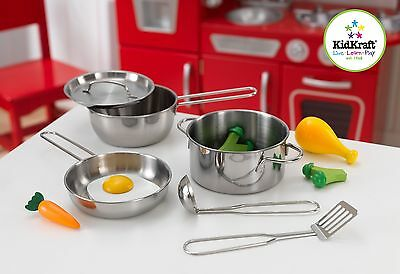 Deluxe Cookware setwith Food by Kidkraft x 11 pieces
