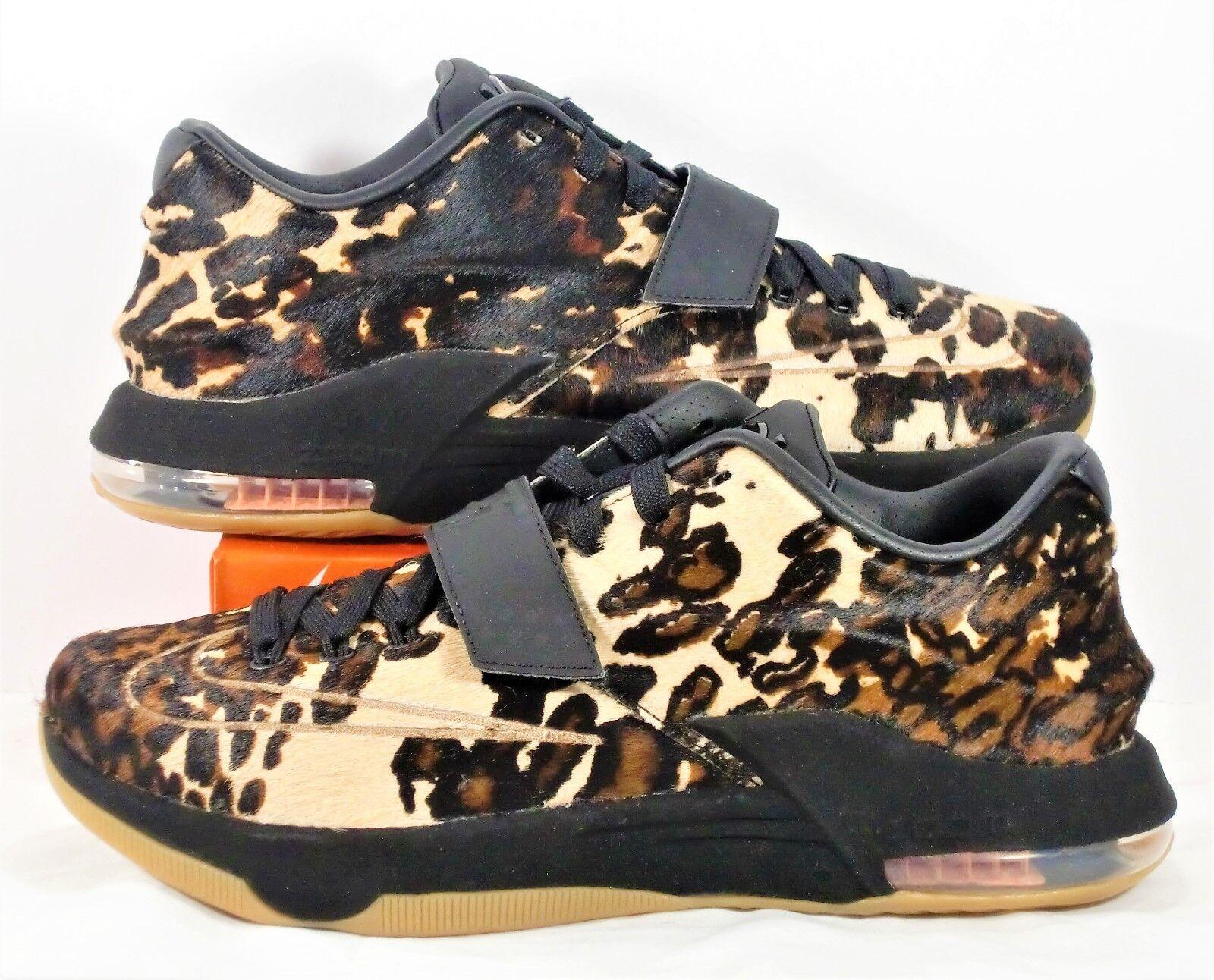 Nike kd 7 vii ext qs texas longhorn stato nero & vela sz nuovi 716654 001