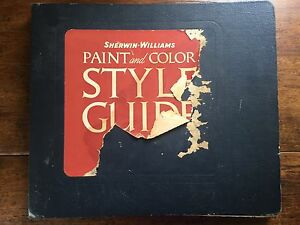 Details About 1941 Sherwin Williams Paint And Color Style Guide Retro Mid Century Decorating