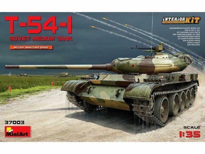 Miniart 37003 1 35th scale T-54-1 Soviet Medium Tank with Interior