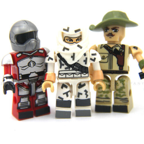 Lot 3pcs KRE-O GI JOE RECONDO Storm Shadow FIREBAT KREON Mini Figure Toy Gift